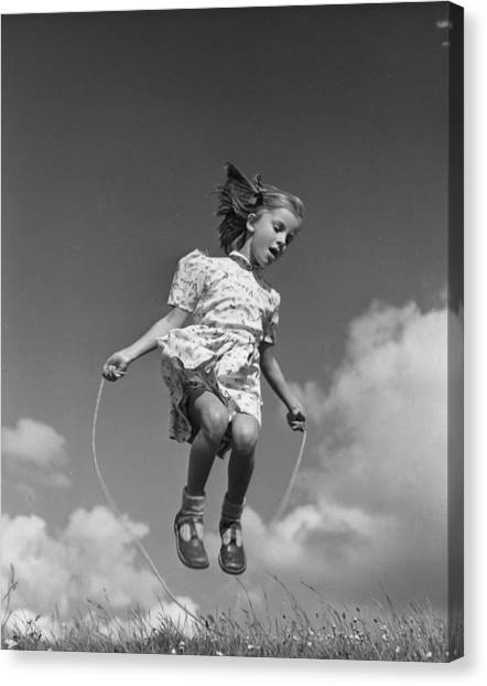 Jump Rope Canvas Print - High Skips by Raymond Kleboe
