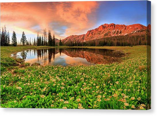 Uinta Canvas Print - Highline Sunset Panorama by Johnny Adolphson