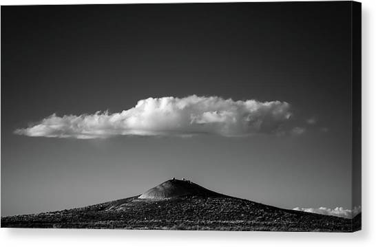 Hill And Cloud Canvas Print by Joseph Smith
