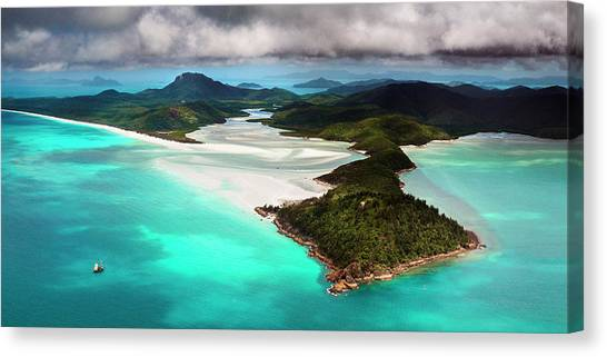 Hill Inlet Canvas Print by Bruce Hood