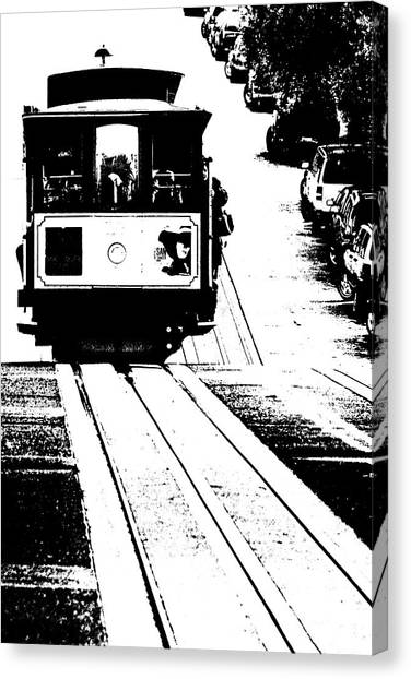 Hill Street Noir Canvas Print
