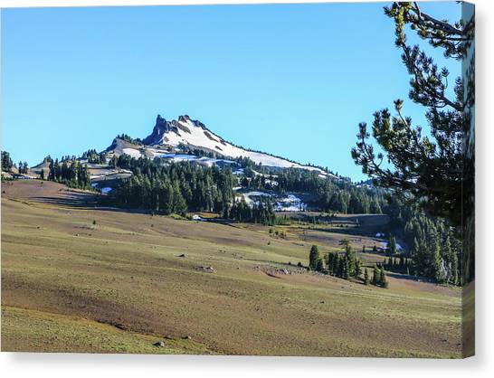 Canvas Print featuring the photograph Hillman Peak Crater Lake National Park by Dawn Richards
