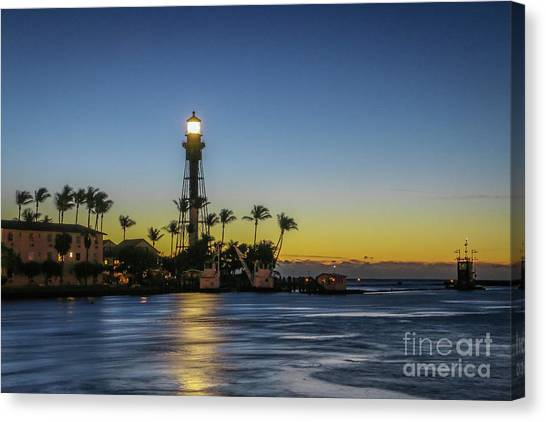 Canvas Print featuring the photograph Hillsboro Light Reflection by Tom Claud