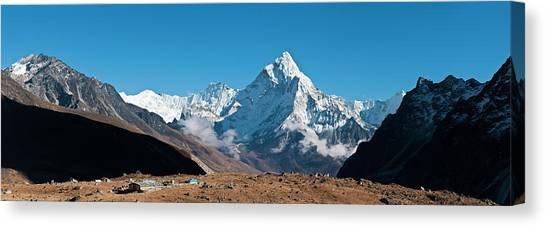 Himalaya Snow Summits Remote Mountain Canvas Print by Fotovoyager