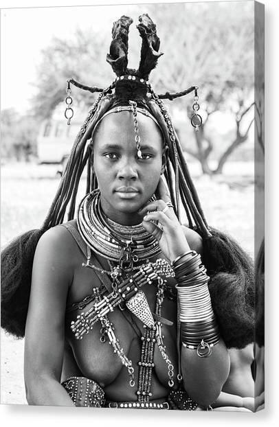 Himba Style Girl Canvas Print
