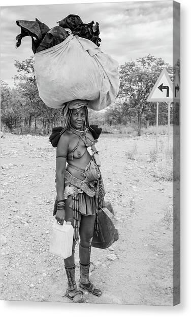 Himba Woman 3 Canvas Print