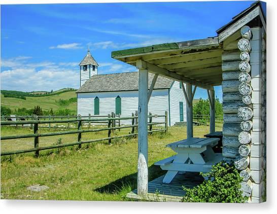 Historic Mcdougall Church, Morley, Alberta, Canada Canvas Print