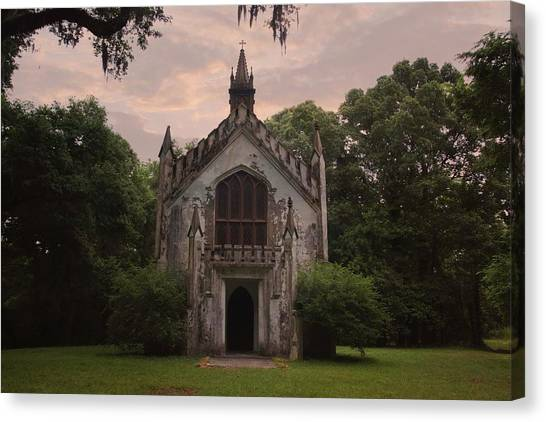 Historic Mississippi Church In The Woods Canvas Print