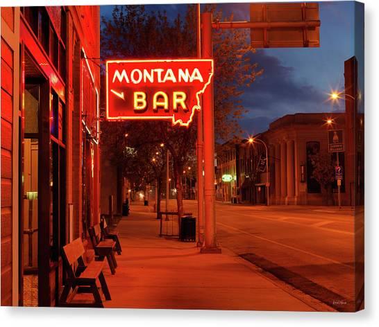 Historical Montana Bar Canvas Print