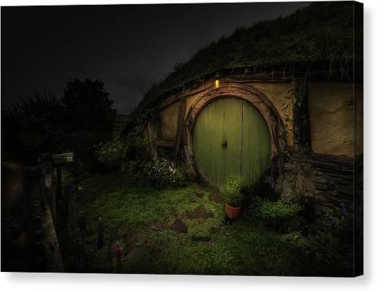 Hobbiton At Night #1 Canvas Print