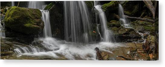 Canvas Print featuring the photograph Hogcamp Branch Falls Vi 3x1 by William Dickman
