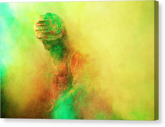 Holi, Festival Of Colors, India Canvas Print by Poras Chaudhary