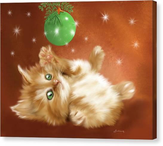 Holiday Kitty Canvas Print