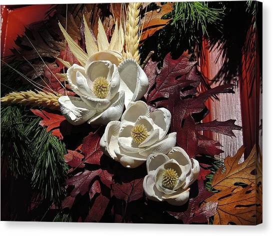 Canvas Print featuring the photograph Holiday Shells by Don Moore