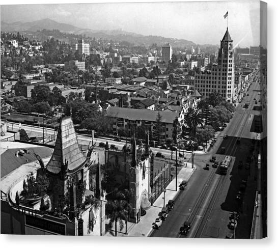 Hollywood Boulevard Canvas Print by Keystone