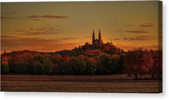 Holy Hill Sunrise Panorama Canvas Print