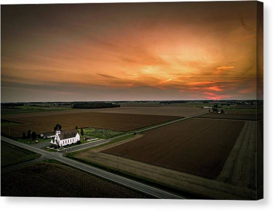 Holy Sunset Canvas Print