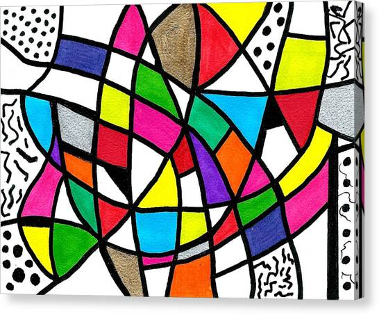 Homage To The Muses 3 Canvas Print
