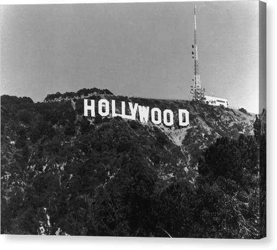 Home Of Hollywood Canvas Print