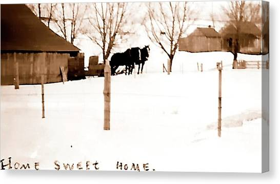 Canvas Print featuring the photograph Home Sweet Home 1917 by Jerry Sodorff