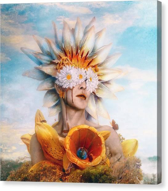 Rebirth Canvas Print - Honey by Mario Sanchez Nevado
