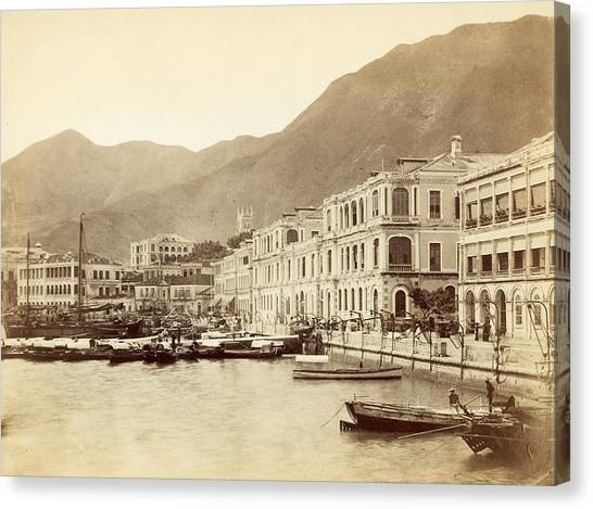 Hong Kong Harbour Canvas Print by John Thomson