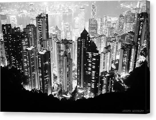 Hong Kong Nightscape Canvas Print
