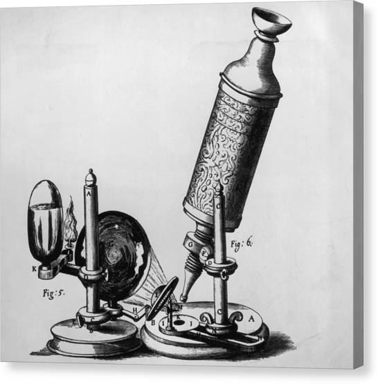 Hookes Microscope Canvas Print by Hulton Archive