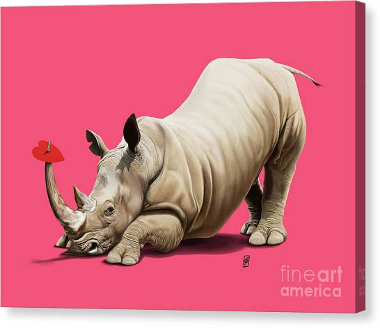 Canvas Print featuring the digital art Horny Colour by Rob Snow