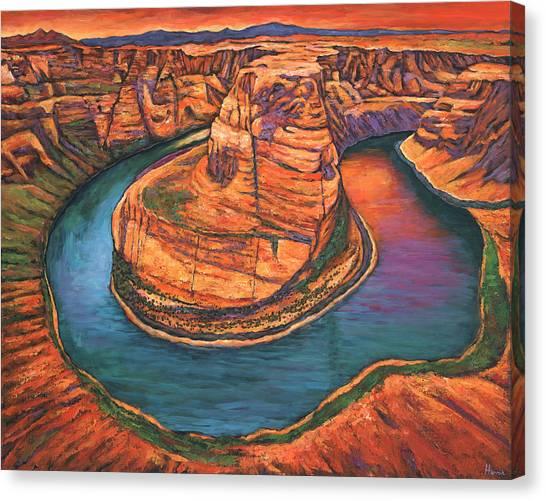 Colorado River Canvas Print - Horseshoe Bend Sunset by Johnathan Harris