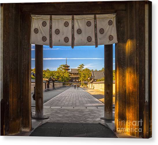 Worship Canvas Print - Horyu-ji Temple In Nara, Unesco World by Luciano Mortula - Lgm