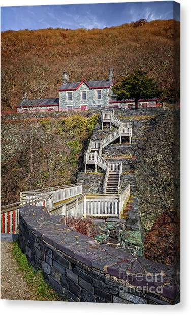 Canvas Print - Hospital Steps At Llanberis Quarry  by Adrian Evans