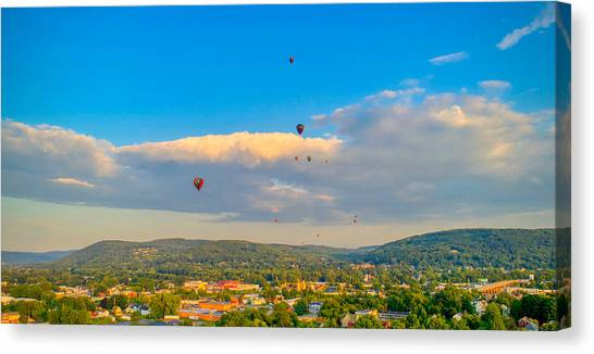 Hot Air Ballon Cluster Canvas Print