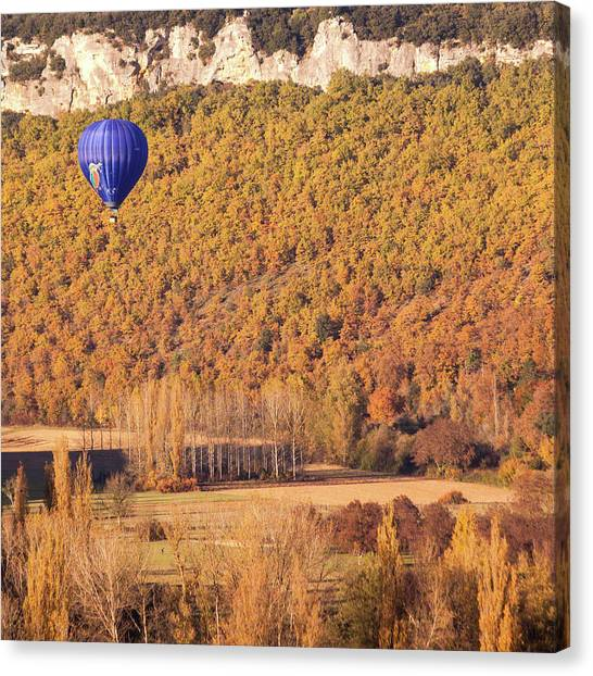 Hot Air Balloon, Beynac, France Canvas Print