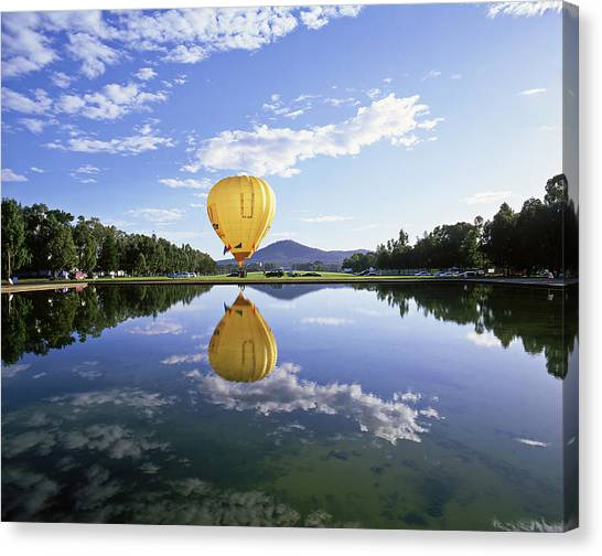 Canberra Canvas Print - Hot-air Balloon, Canberra Festival by Photograph By David Messent