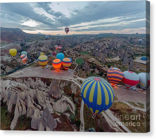 Basket Canvas Print - Hot Air Balloons Atmosphere Ballons by Vadim Petrakov