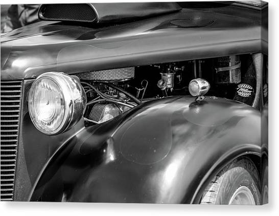 Canvas Print featuring the photograph Hot Rod Engine by Elliott Coleman