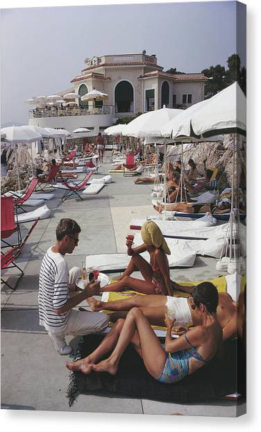 Hotel Du Cap Canvas Print by Slim Aarons
