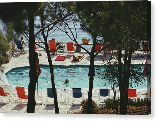 Hotel Il Pellicano Canvas Print by Slim Aarons