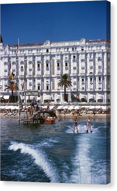 Hotel Sports Canvas Print by Slim Aarons