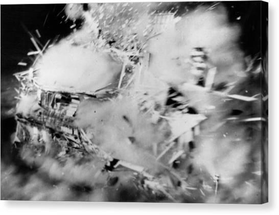 House Disintegrates Canvas Print by Keystone