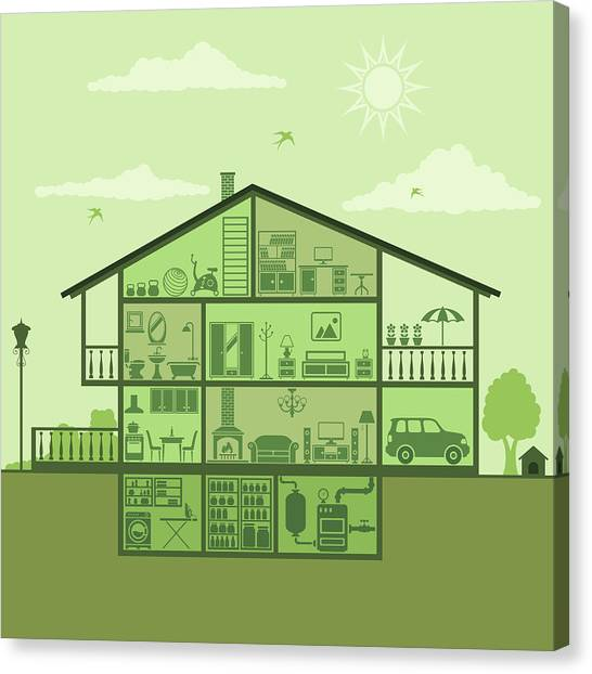 House Interior Canvas Print by Alonzodesign