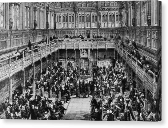 House Of Commons Interior Canvas Print by Hulton Archive