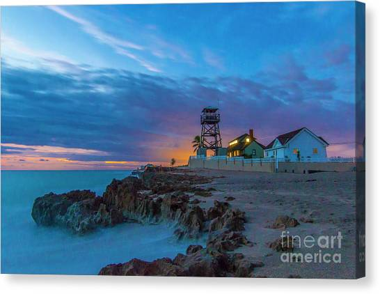 Canvas Print featuring the photograph House Of Refuge Morning by Tom Claud