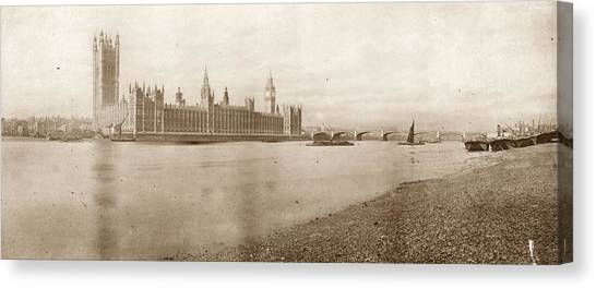 Houses Of Parliament Canvas Print by Hulton Archive
