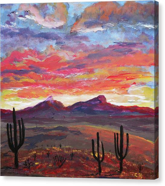 Canvas Print featuring the painting How I See Arizona by Chance Kafka