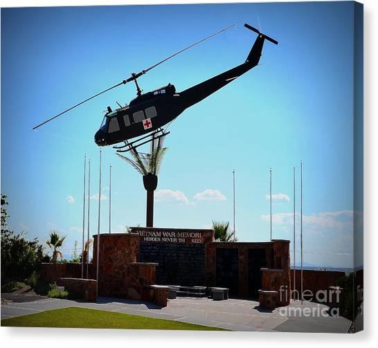 Medivac Canvas Print - Huey Vietnam Veterans Memorial by Tru Waters