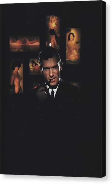 Hugh Hefner Canvas Print