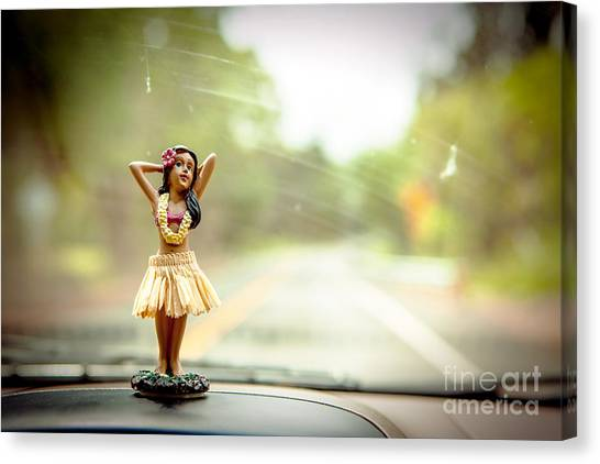 Hula Dancer Canvas Print by Henry Lien