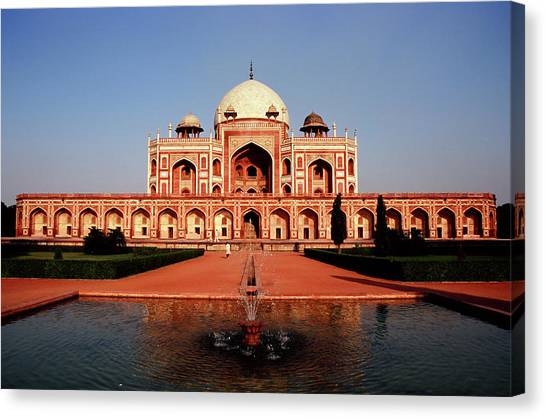Humayuns Tomb, Delhi Canvas Print by Kelly Cheng Travel Photography